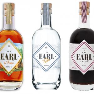 EARL of Rum, EARL of Gin, EARL Spirit